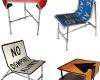 Krzesła ze znaków drogowych