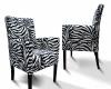 Fotel Dom-Art-Styl z motywem zebry