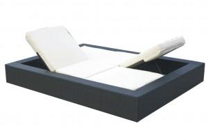 Łóżko technorattanowe Umile
