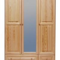 sosnowa szafa z lustrem