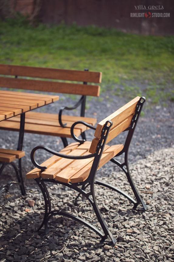 Fotel ogrodowy żeliwny