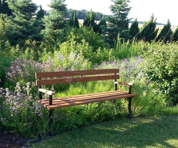 Ławka do ogrodu stalowa