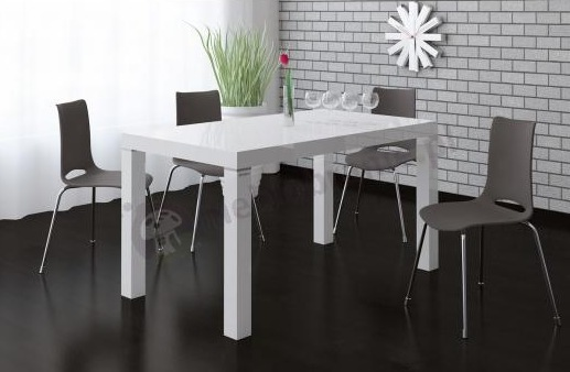 Biały stół rozkładany