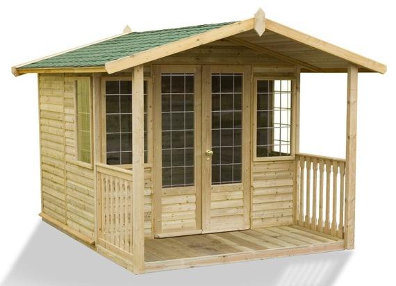 Domek ogrodowy drewniany