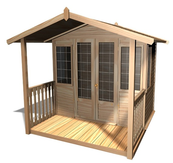 Drewniany domek do ogrodu