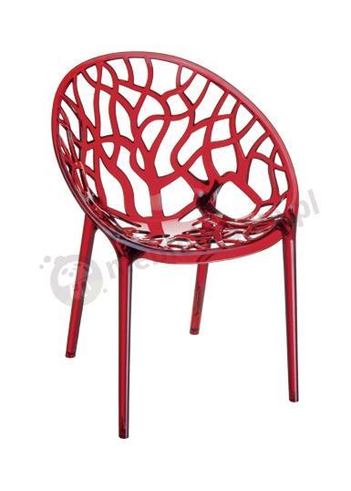 Plastikowe krzesło do salonu