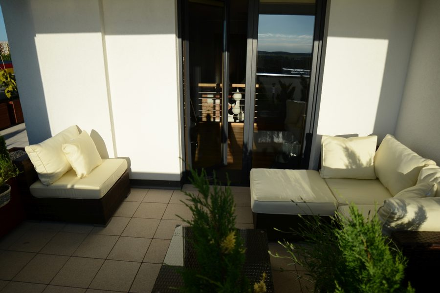 Meble balkonowe Nilamito Brown & Ecru