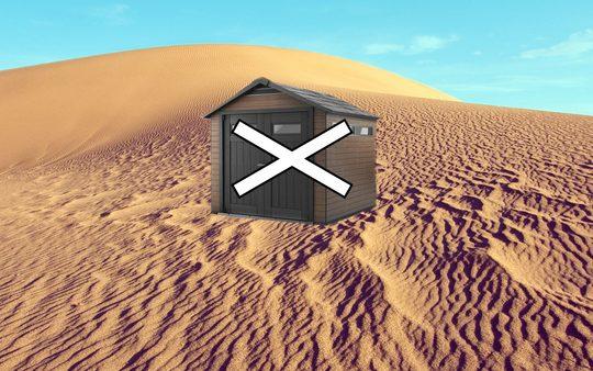 Nie należy stawiać domku na piasku i terenie niestabilnym