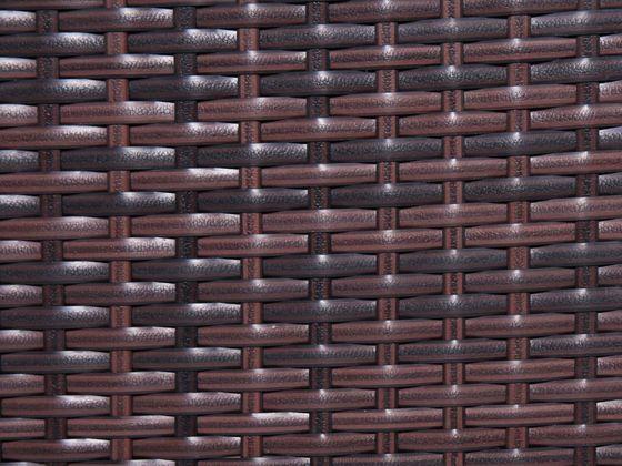 Technorattan płaski - brązowy