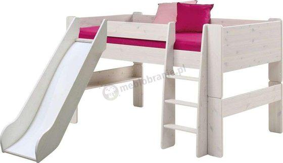 Łóżko ze zjeżdżalnią dla dzieci