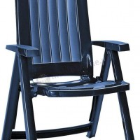 Ciemnoniebieskie krzesło Corsica Keter