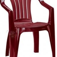 Bordowe krzesło Sicilia