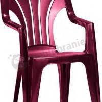 Ciemnoczerwone krzesło Venetia