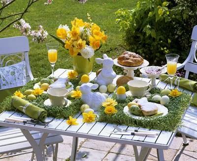 Wielkanocne śniadanie w ogrodzie