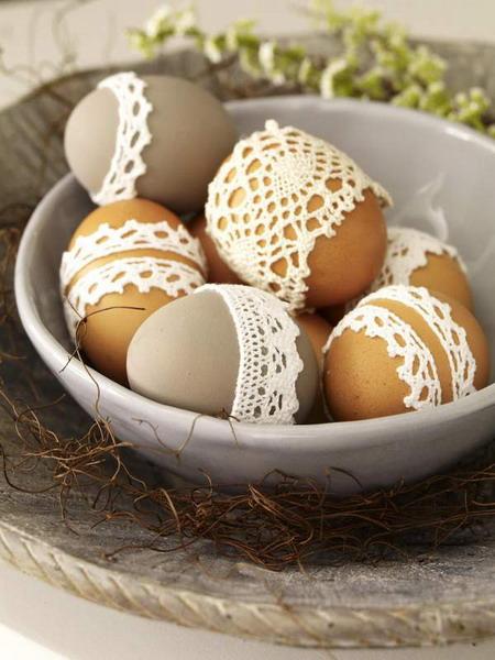 jajka w koronkach