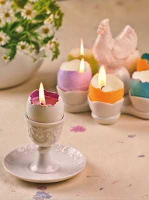 świeczniki ze skorupek