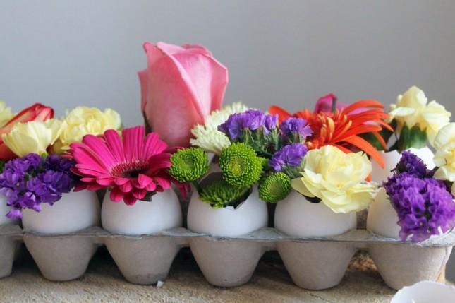 Kwiaty w skorupkach