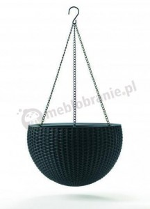 Doniczka HANGING SPHERE PLANTER - Antracyt