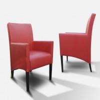 Fotel skośny 98 cm czerwony