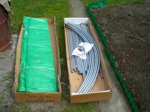 Metalowy tunel ogrodniczy - zawartość paczki.