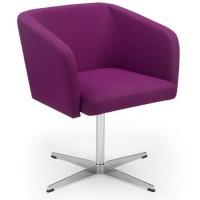 Fotele i krzesła biurowe Nowy Styl Fotel Hello! 1S Cross (fioletowy)