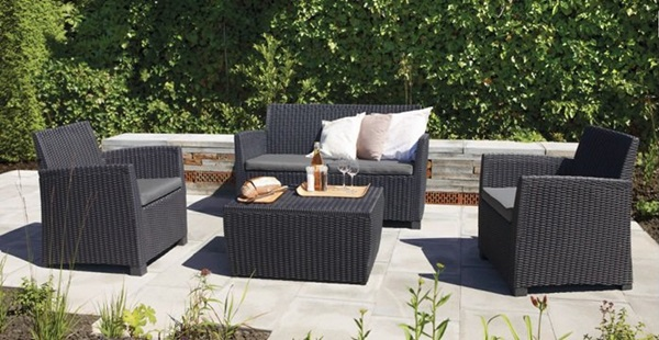 Komplet mebli ogrodowych Corona Box ze stolikiem - skrzynią