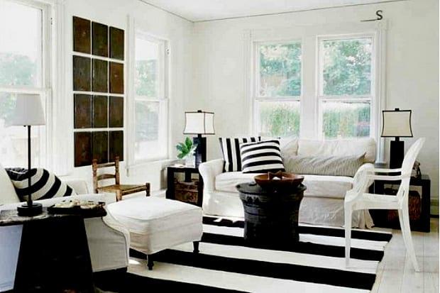 czarno-białe wnętrze
