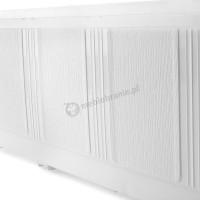 Doniczka balkonowa biała 60 cm