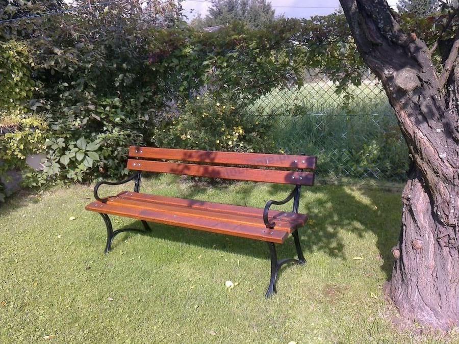 Ławka ogrodowa z podłokietnikami 150cm