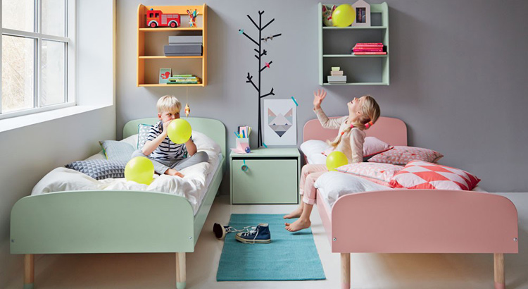 Pokój chłopca i dziewczynki, źródło: Pinterest