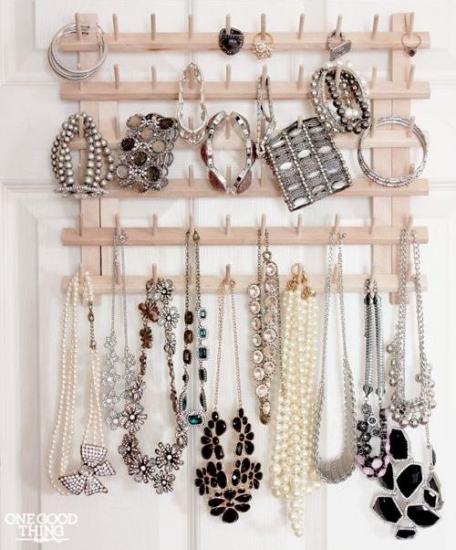 Haczyki na biżuterię znalezione na Pintereście