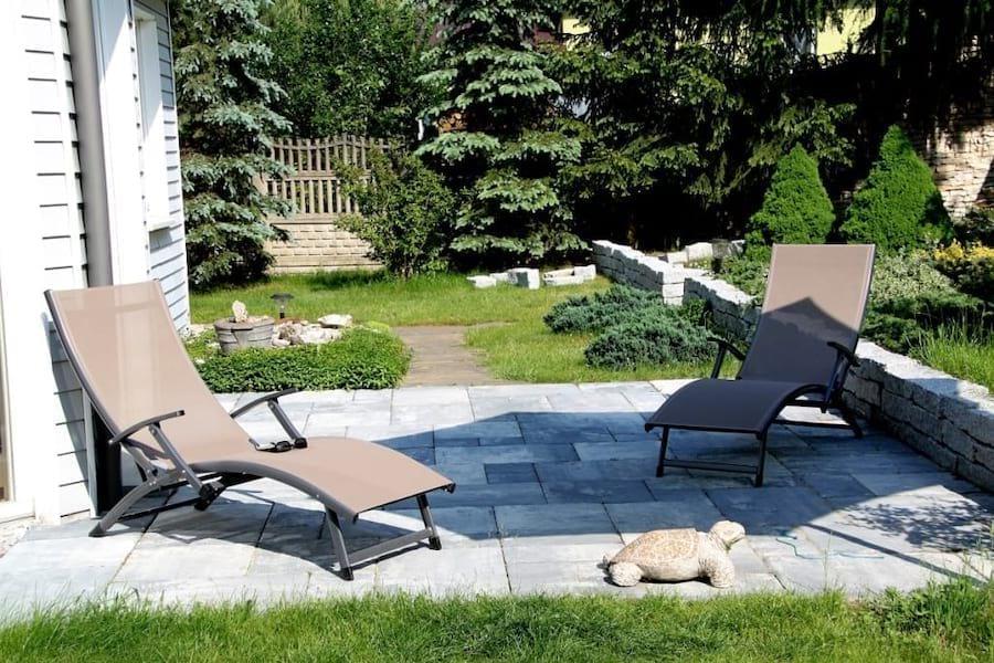 Leżak ogrodowy aluminiowy Relax taupe