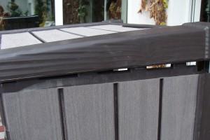 Skrzynia ogrodowa Keter Brushwood Storage Box 455L montowanie drugiego boku
