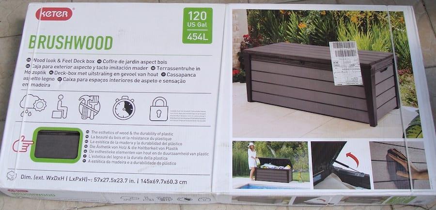 Skrzynia ogrodowa Keter Brushwood Storage Box 455L paczka