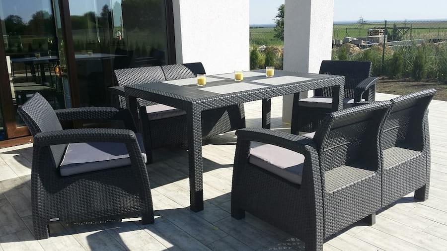 Meble Ogrodowe Corfu Set Triple Max Meblobranie : Zestaw stołowy Corfu Fiesta to drugi z bestsellerów w serii Corfu