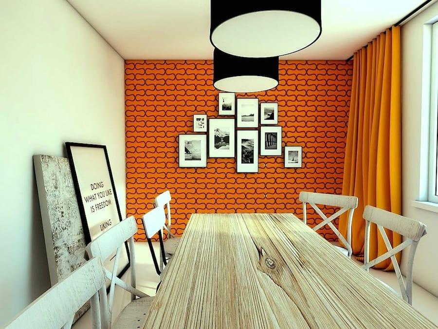 Wnętrze wykończone panelem dekoracyjnym w kształcie kostki Concepts