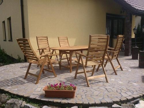 Meble ogrodowe drewniane - stół rozkładany owalny 190cm
