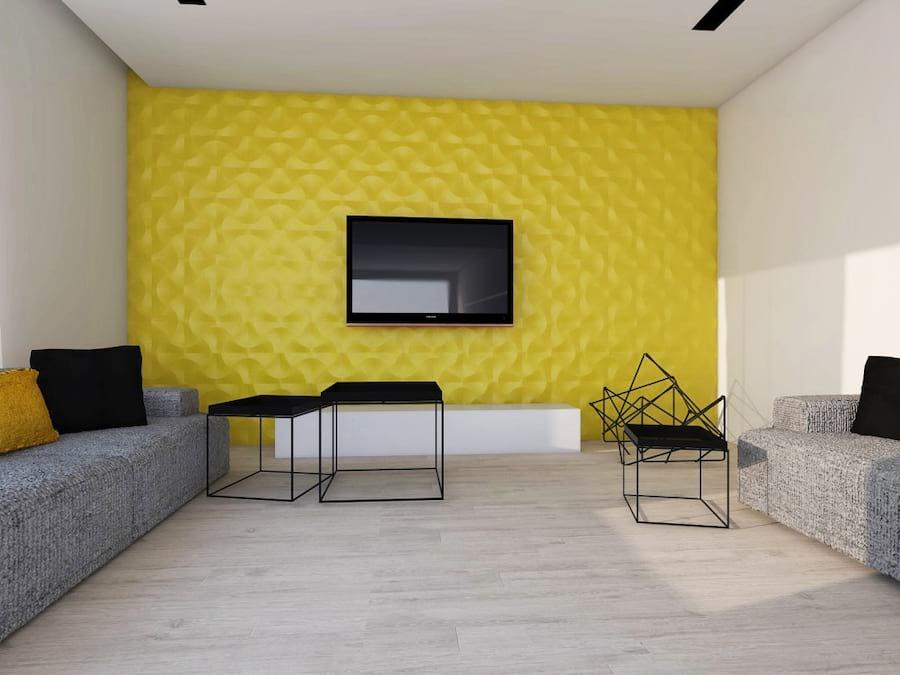 Ściana wykończona panelem marki Concept