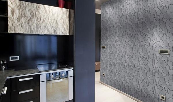 Panele na ścianę dekoracyjne wykorzystane do aranżacji kuchni.