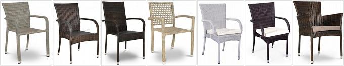 technorattanowe krzesła
