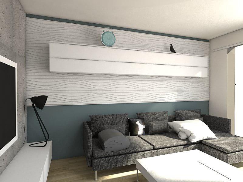 Wnętrze wykończone panelem marki MDF 3D
