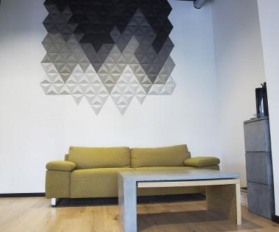 Dekory betonowe SLABB z betonowym stołem i szafką