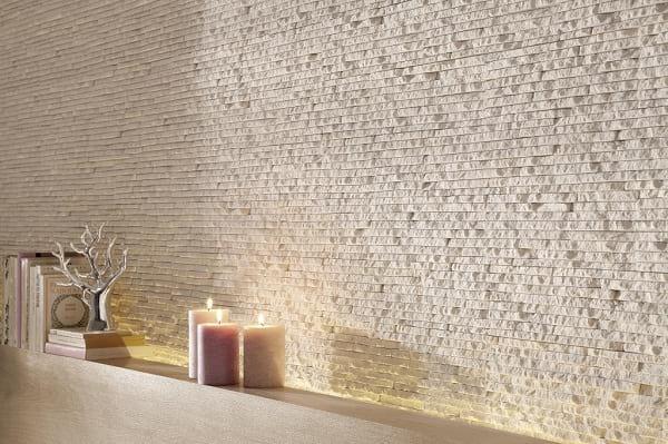 Ściana wykończona kamieniem Incana