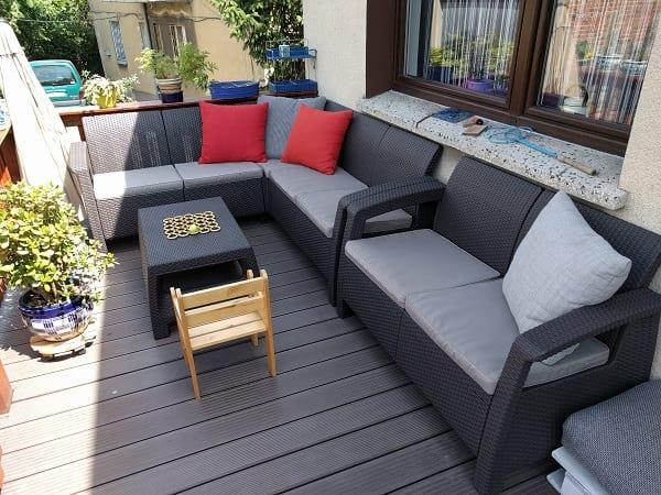 Zestaw Corfu Relax Set z sofą w aranżacji pani Wiktorii