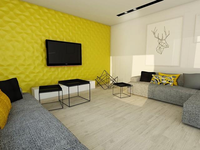 Wnętrze wykończone panelami Concept