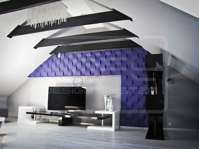 Wnętrze wykończone panelami Loft Design System
