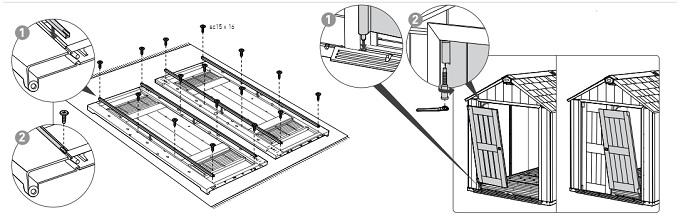 Wycinek z instrukcji - montaz drzwi