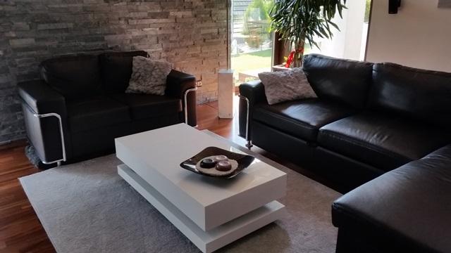 Biały stolik do salonu Tora