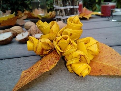 Bukiet z żółtych liści.
