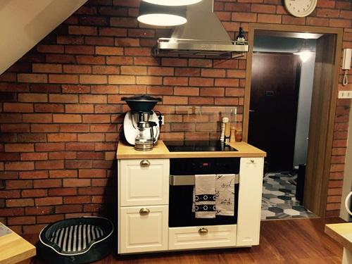 Kuchnia wykończona płytkami Mauer